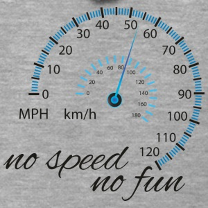 No speed no fun black design - Men's Premium Hooded Jacket
