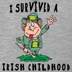 Irish I Survived A Irish Childhood - Men's Premium Hooded Jacket