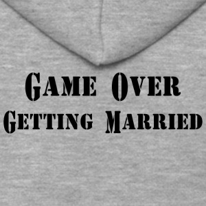 GAME OVER GETTING MARRIED - Men's Premium Hooded Jacket