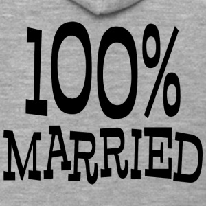 Just Married 100% - Felpa con zip Premium da uomo