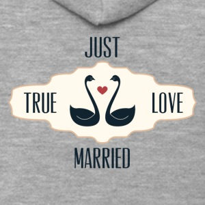 Just Married True Love - Men's Premium Hooded Jacket