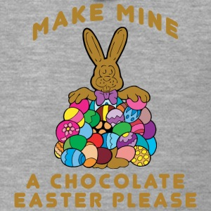 Easter Make Mine A Chocolate Easter Please - Men's Premium Hooded Jacket
