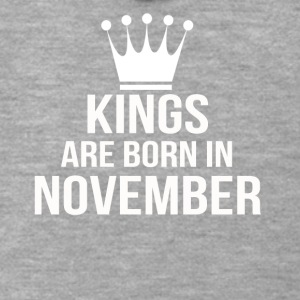 kings are born in november - Men's Premium Hooded Jacket