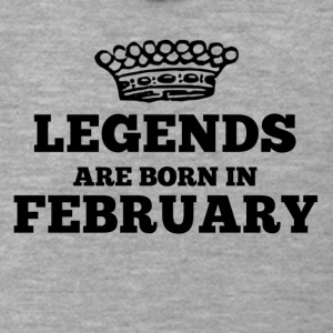 Legends are born in february - Männer Premium Kapuzenjacke