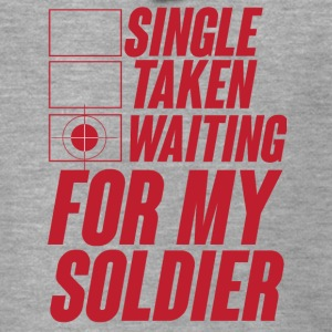 Militär / Soldaten: Single, Taken, Waiting for my - Männer Premium Kapuzenjacke