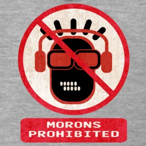 Morons prohibited - Men's Premium Hooded Jacket
