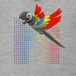 Parrot bird of prey rainbow colorful p cute - Men's Premium Hooded Jacket