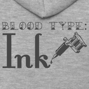 Tattoo / Tattoo: Blood Type - Ink - Premium Hettejakke for menn