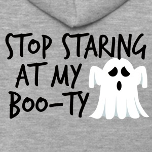 Halloween: Stop Staring At My Boo-Ty - Men's Premium Hooded Jacket