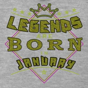 Legends January born birthday gift birth - Men's Premium Hooded Jacket