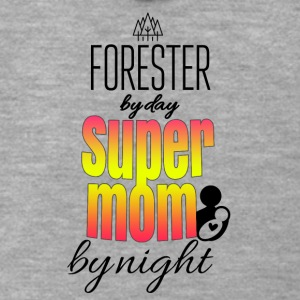 Forester by day super mom by night - Männer Premium Kapuzenjacke