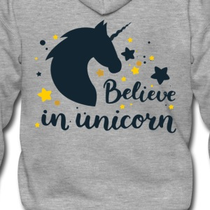 BELIEVE IN UNICORN - Rozpinana bluza męska z kapturem Premium
