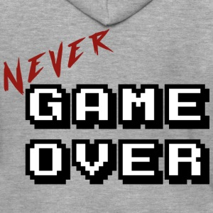 Never game over white - Men's Premium Hooded Jacket