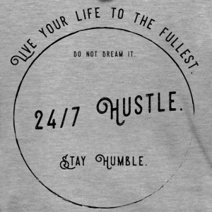 24/7 Hustle - Work for your dreams. - Men's Premium Hooded Jacket