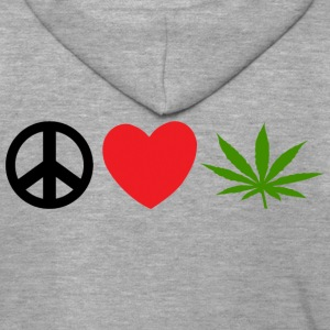 Peace Love Marijuana Cannabis Weed Pot - Premium Hettejakke for menn