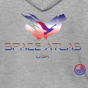 Space Atlas Tee USA - Men's Premium Hooded Jacket