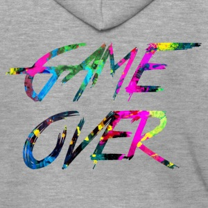 rainbow Game over - Men's Premium Hooded Jacket