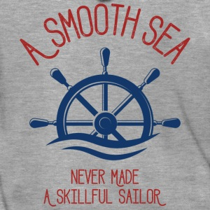 A Smooth Sea Never Made A Skillful Sailor - Männer Premium Kapuzenjacke