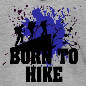 Born to Hike - love for hiking - Men's Premium Hooded Jacket