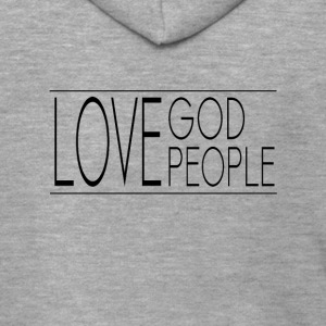 Love God Love People - Men's Premium Hooded Jacket