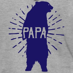 Papa Bear Fathers Day - fathers day - Men's Premium Hooded Jacket