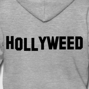 Hollyweed nero - Felpa con zip Premium da uomo
