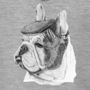 French Bulldog m / rapport - Premium Hettejakke for menn