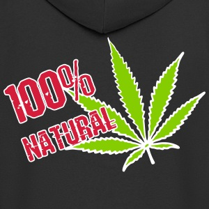 weed - 100% natural hemp - Men's Premium Hooded Jacket