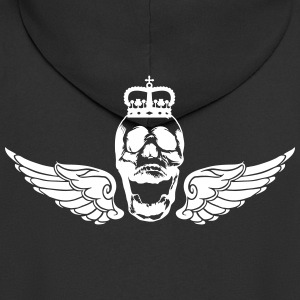 Skull with wings and crown - Men's Premium Hooded Jacket
