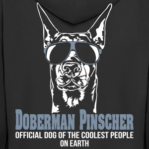 DOBERMAN PINSCHER coolest people - Doberman - Men's Premium Hooded Jacket