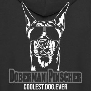 DOBERMAN PINSCHER coolest dog - Men's Premium Hooded Jacket