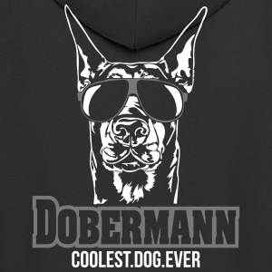 DOBERMANN coolest dog - Men's Premium Hooded Jacket