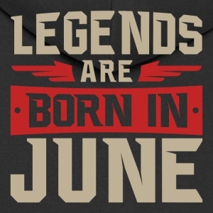 LEGENDS ARE BORN IN JUNE - Men's Premium Hooded Jacket