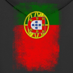 Portugal Flag Proud Portoguese Vintage Distressed - Men's Premium Hooded Jacket