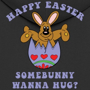 Happy Easter Somebunny Want A Hug - Men's Premium Hooded Jacket
