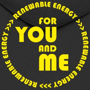 RENEWABLE energy for you and me - yellow - Männer Premium Kapuzenjacke