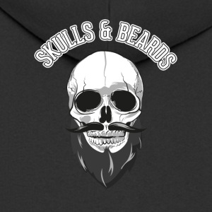 Skull and beard - Men's Premium Hooded Jacket