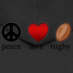 Peace Love Rugby - Men's Premium Hooded Jacket