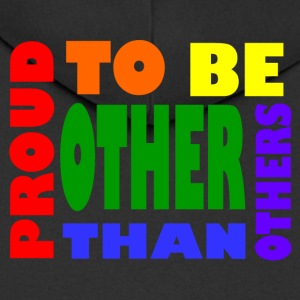 proud to be other than others gay - Männer Premium Kapuzenjacke
