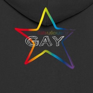 gay star rainbow csd pride demo fabulous love lol - Männer Premium Kapuzenjacke