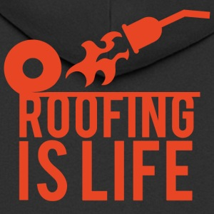 Roofing: Roofing Is Life. - Men's Premium Hooded Jacket