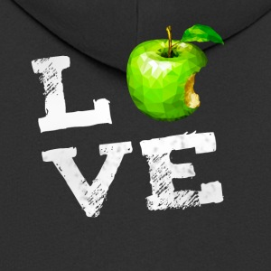 amour Apple geek Vegan pc Fruits humour nerd g - Veste à capuche Premium Homme