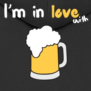 I m in love with beer - Männer Premium Kapuzenjacke