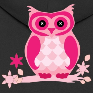 Pink owl - Men's Premium Hooded Jacket