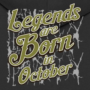 Birthday October legends born gift birth - Men's Premium Hooded Jacket