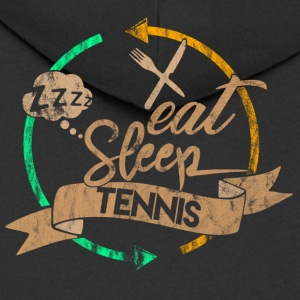 Eat Sleep Tennis Repeat - Felpa con zip Premium da uomo