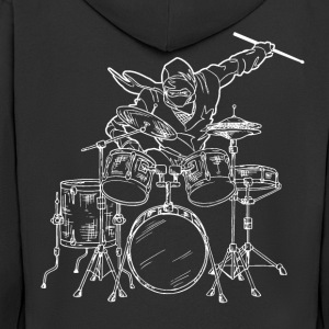 Drummer Ninja - Men's Premium Hooded Jacket