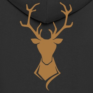 Deer logo brown / gold - Men's Premium Hooded Jacket
