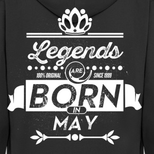 Legends are born in May birthday present - Men's Premium Hooded Jacket