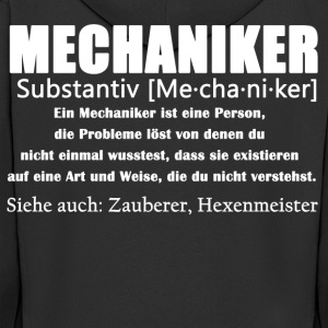 Mechaniker Definition Shirt - Männer Premium Kapuzenjacke